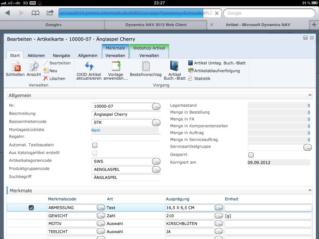 Microsoft Dynamics NAV 2013 Web Client