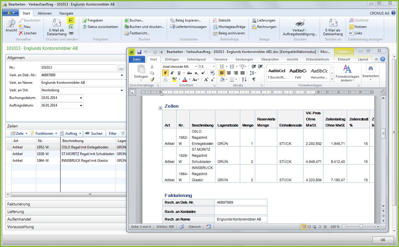 Dynamics NAV 2013 Office Integration
