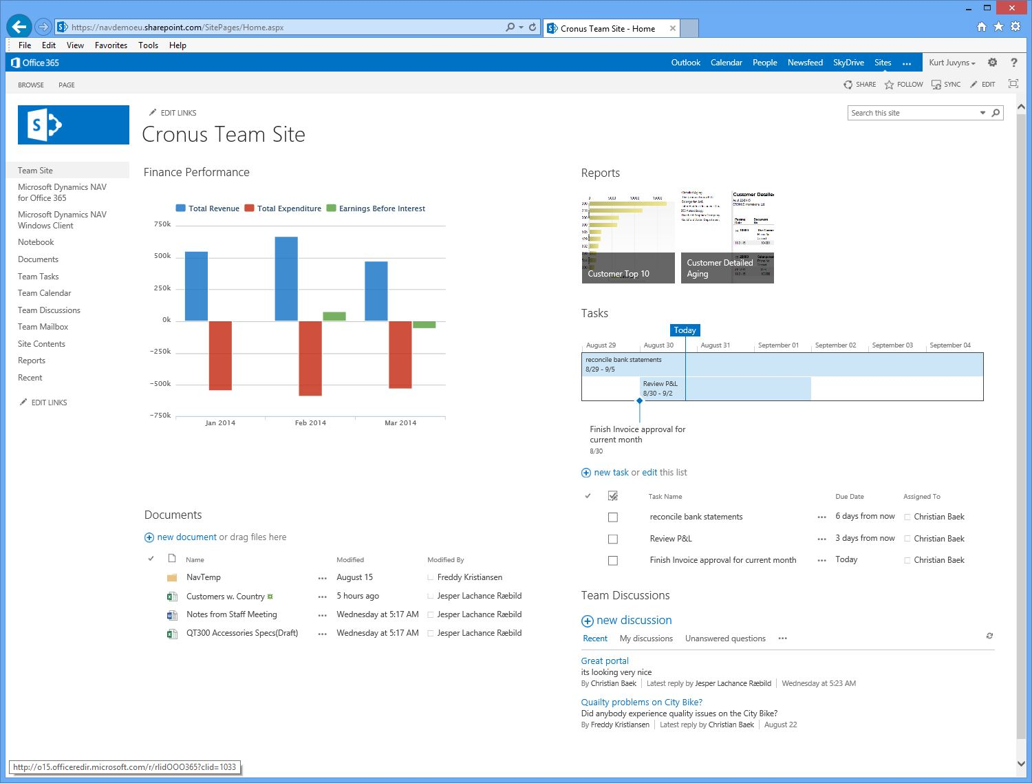 Dynamics NAV 2013 R2 Screenshot Interface UI Design