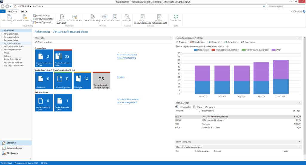 Dynamics NAV 2015 Neue Funktionen Tablet Client Word Reporting