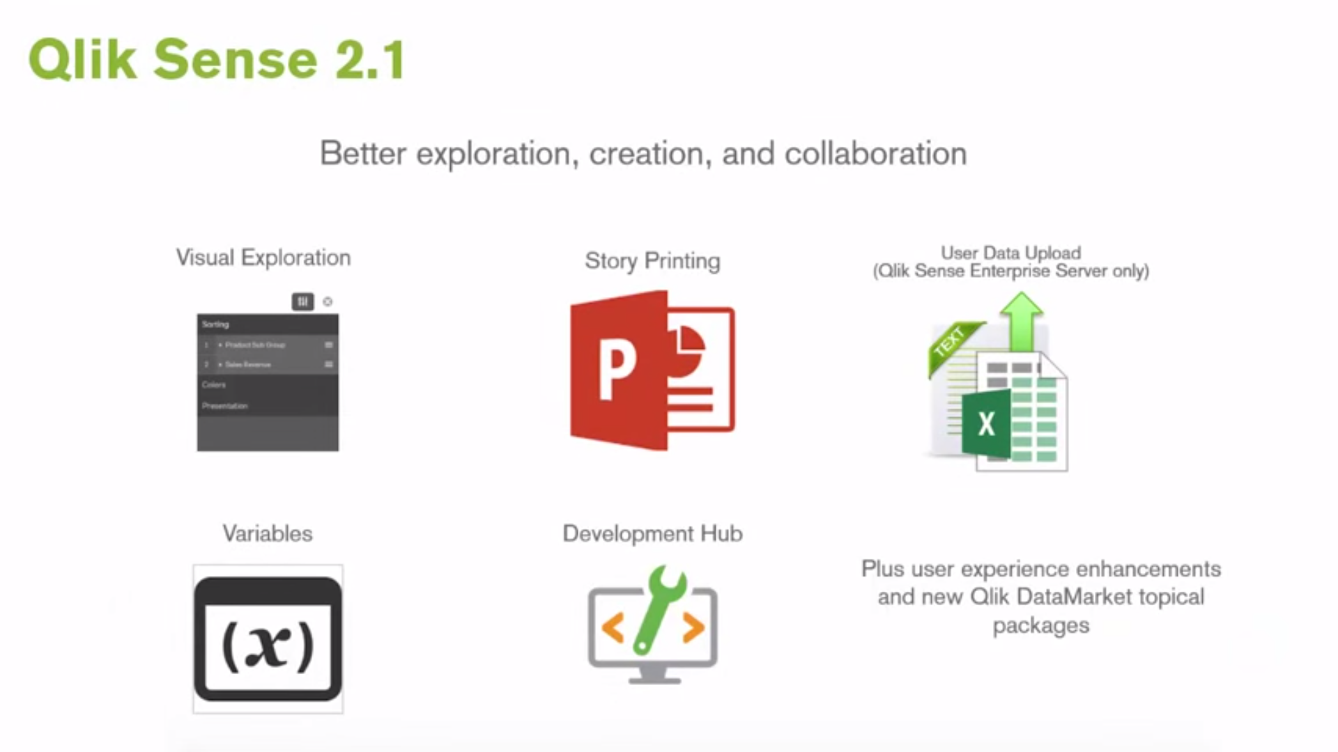 Qlik Sense 2.1 Features Release