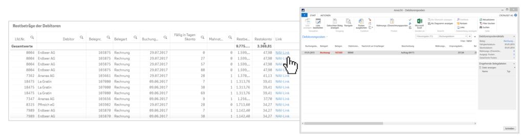 Automatisch generierte NAV-Links in NAVdiscovery