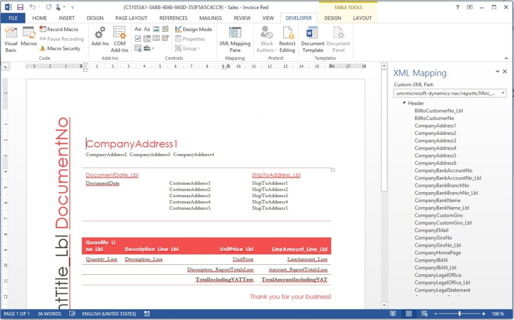 Microsoft Dynamics NAV 2015 Features Document Reporting