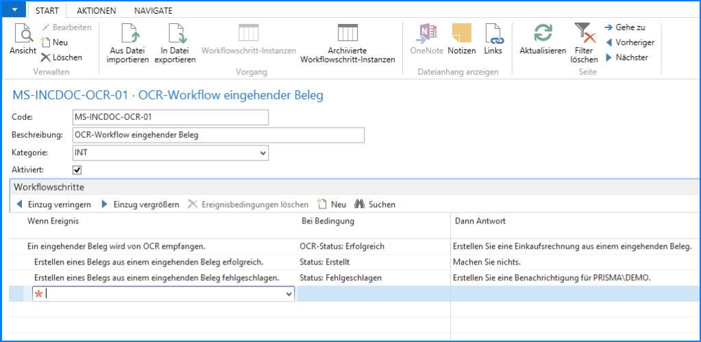 NAV 2016 Workflow Module