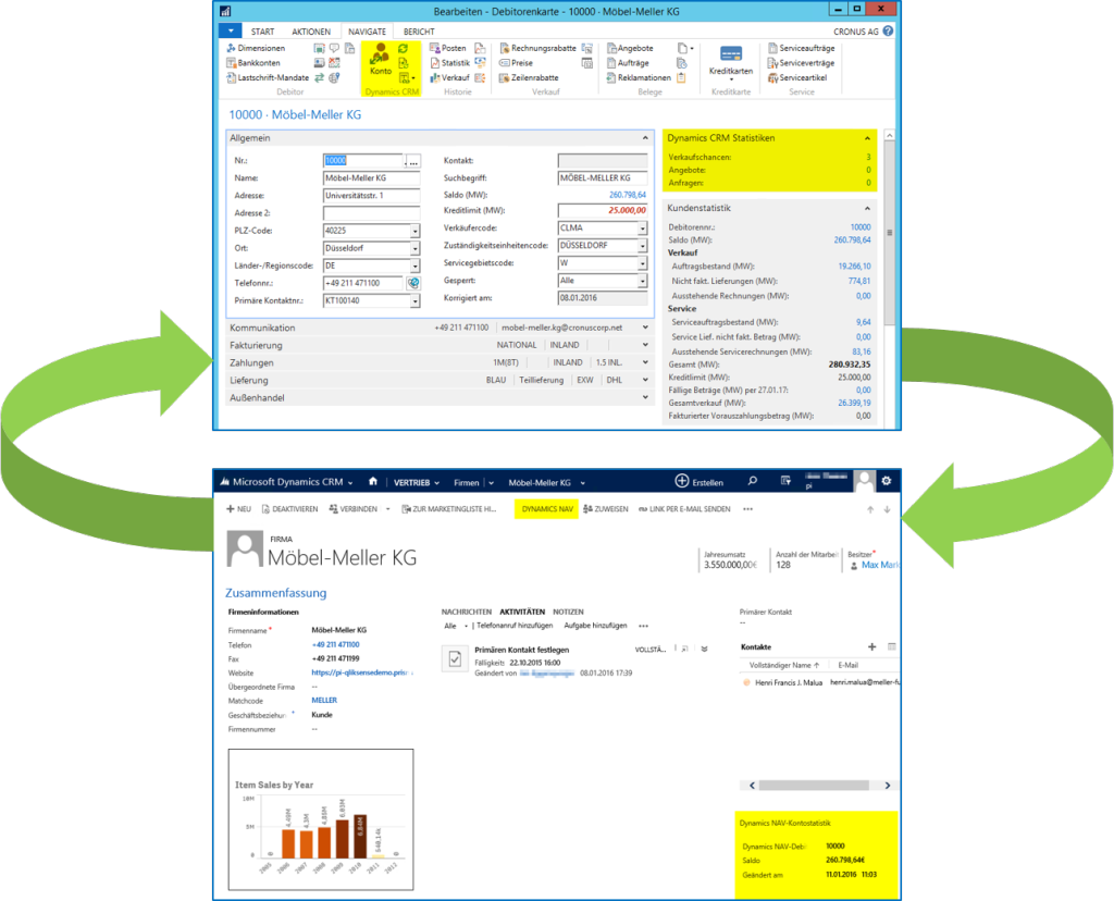 Dynamics NAV 2016 CRM Integration