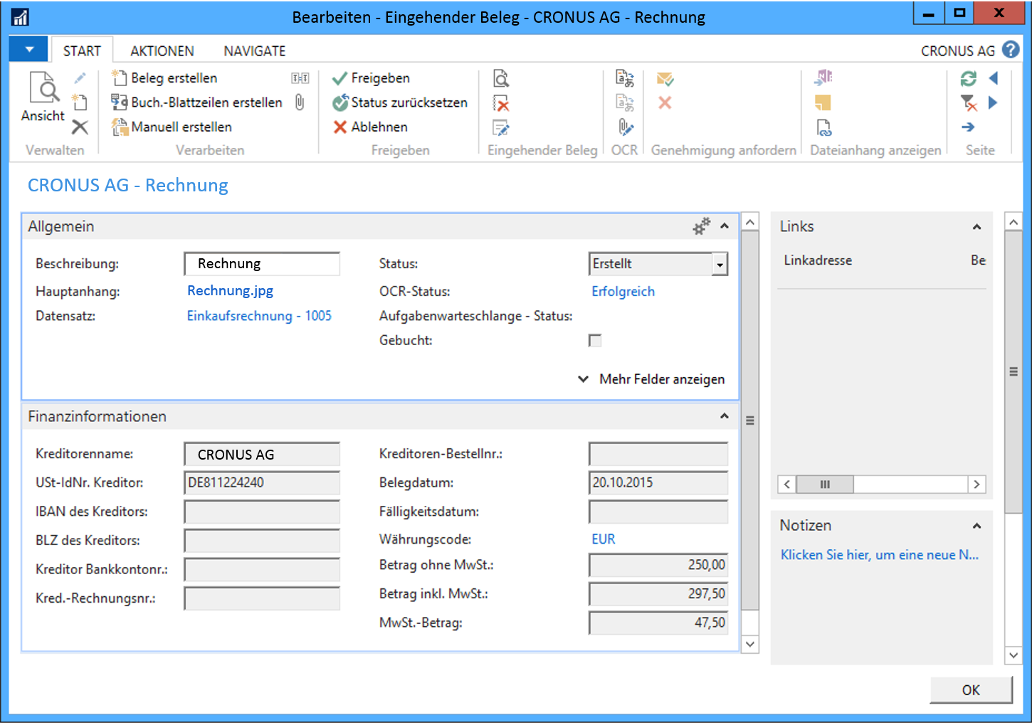 Incoming Invoice Process With OCR In Microsoft Dynamics NAV - Microsoft invoice software
