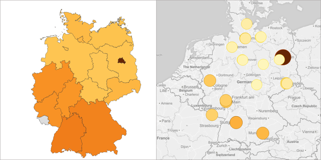 Qlik Sense Geo-Visualisation - Area and Point Visualisation