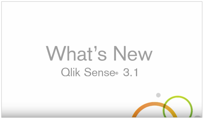Qlik Sense 3.1 - What's New