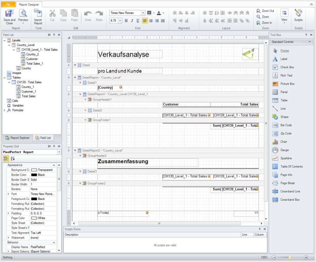 Report Designer in Qlik NPrinting