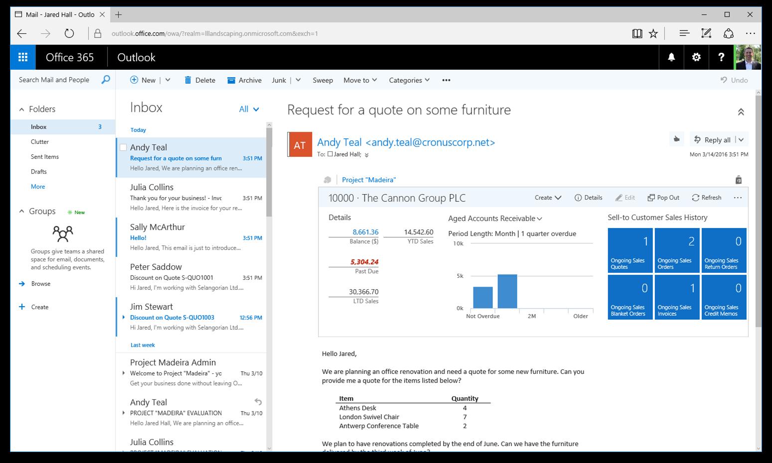 Microsoft Dynamics NAV 2017 – Deeper Office 365 integration