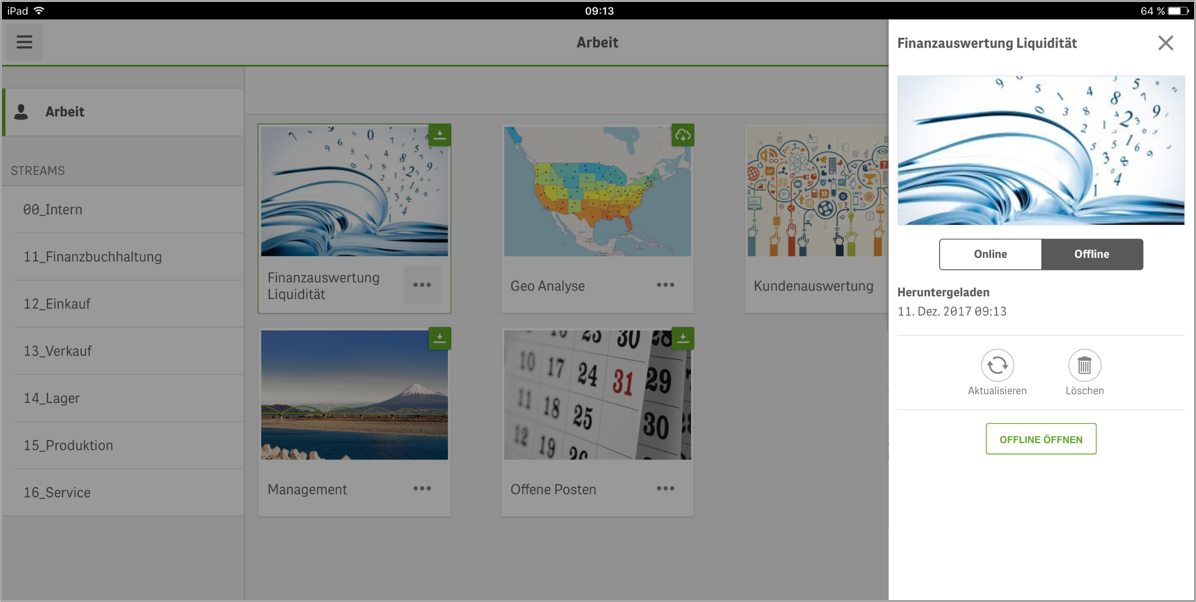 Offline Data Analysis with the Qlik Sense Mobile App – ERP