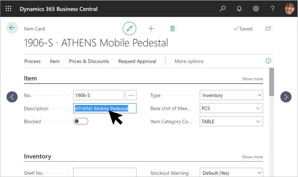 Business Central User Interface